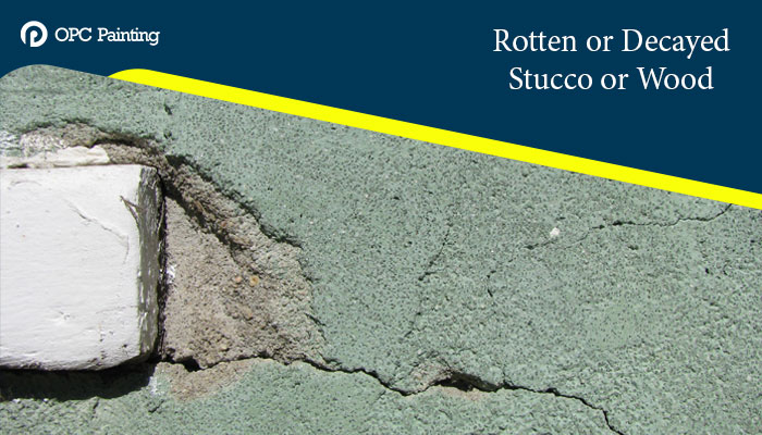 Rotten or Decayed Stucco or Wood