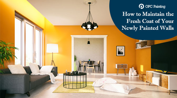 How to Maintain the Fresh Coat of Your Newly Painted Walls