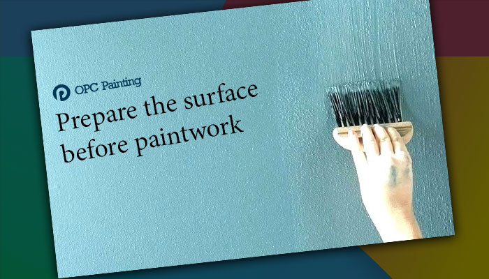 prepare the surface before paintwork