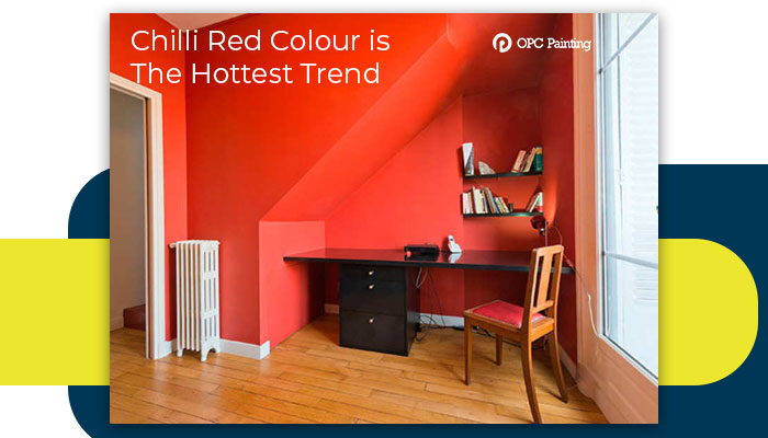 chilli red colour is the hottest trend