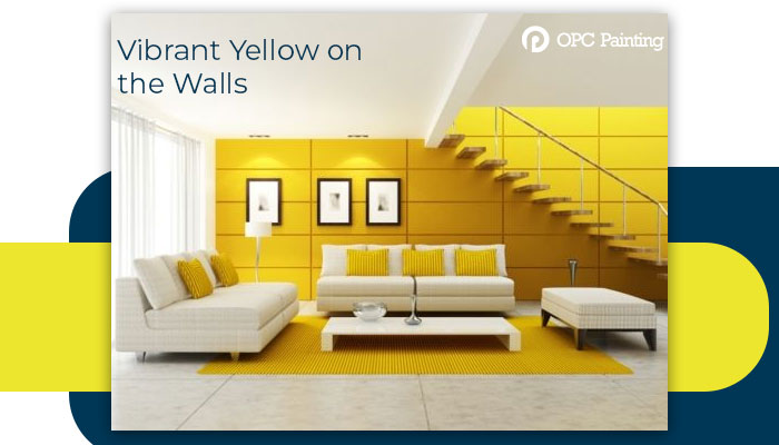 vibrant yellow on the walls