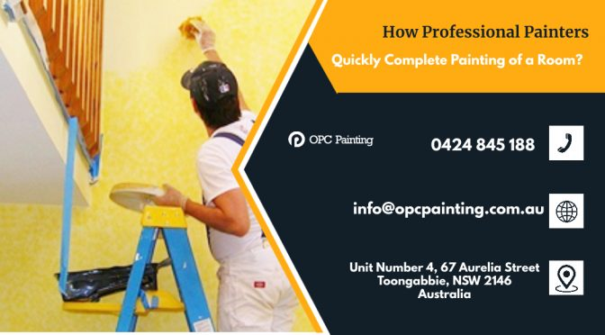 How Professional Painters Quickly Complete Painting of a Room?